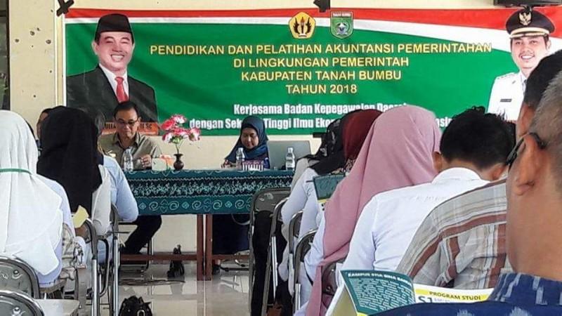 Pendidikan dan Pelatihan Akuntansi Pemerintahan Kerjasama STIENAS Banjarmasin dan Pemerintah Kabupaten Tanah Bumbu tahun 2018