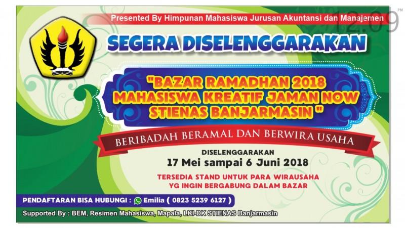 Bazar Ramadhan 2018 Mahasiswa Kreatif Jaman Now STIENAS Banjarmasin