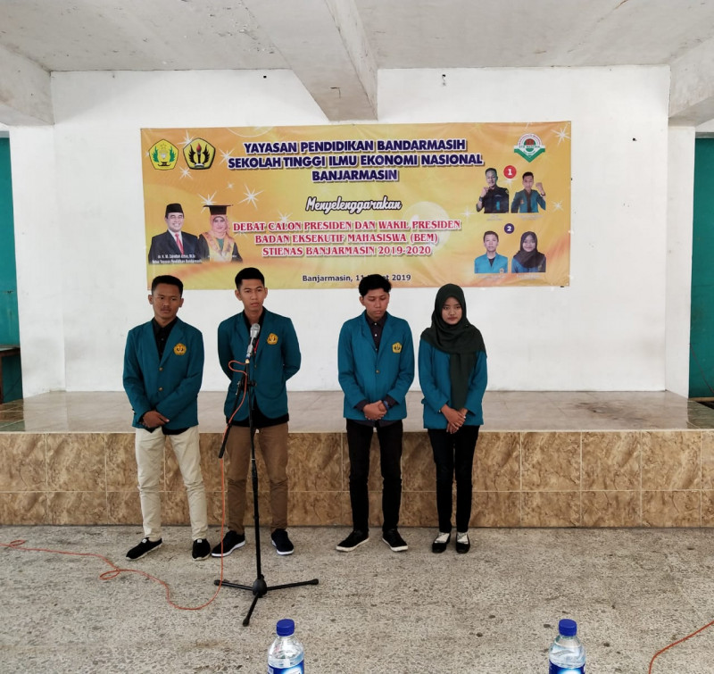 Debat CAPRES dan CAWAPRES BEM STIENAS Banjarmasin 2019/2020
