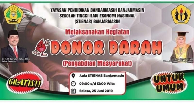 Donor Darah Dalam Rangka Dies Natalis STIENAS Banjarmasin