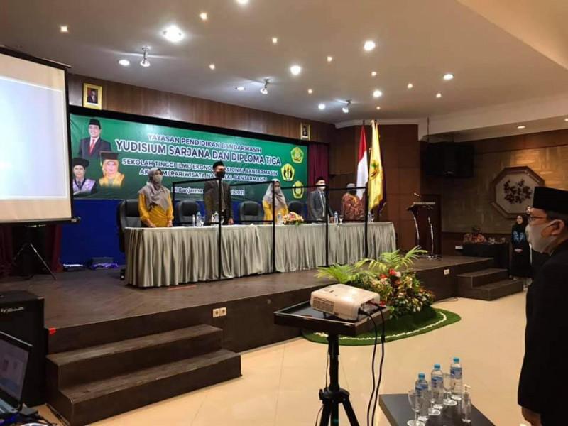 Yudisium Sarjana STIE Nasional Banjarmasin Semester Ganjil Tahun 2020/2021